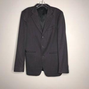 Gray Pinstripe Men's 3 Button Suit